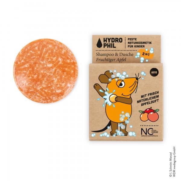 HYDROPHIL 2in1 SHampoo & Dusche Fruchtiger Apfel für Kinder Hero