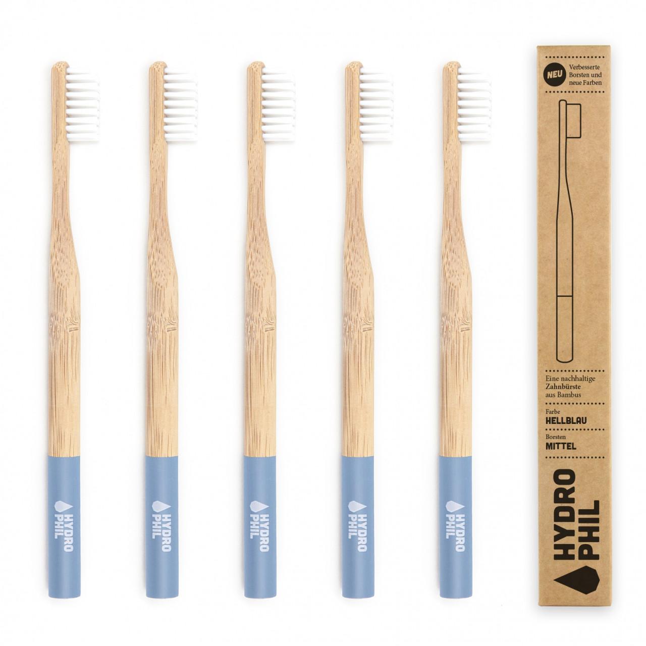 Nachhaltige Zahnbürste – hellblau – Mittelweich