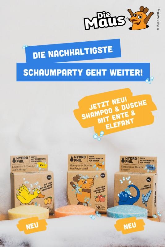 Launch 2in1 Shampoo & Dusche Ente und Elefant