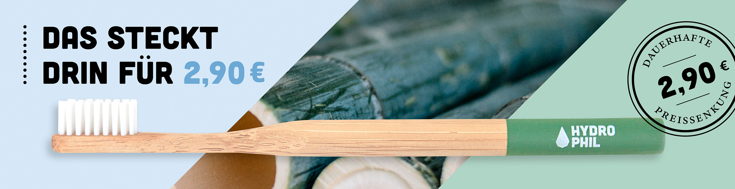 Preissenkung Hydrophil Bambus Zahnbürste