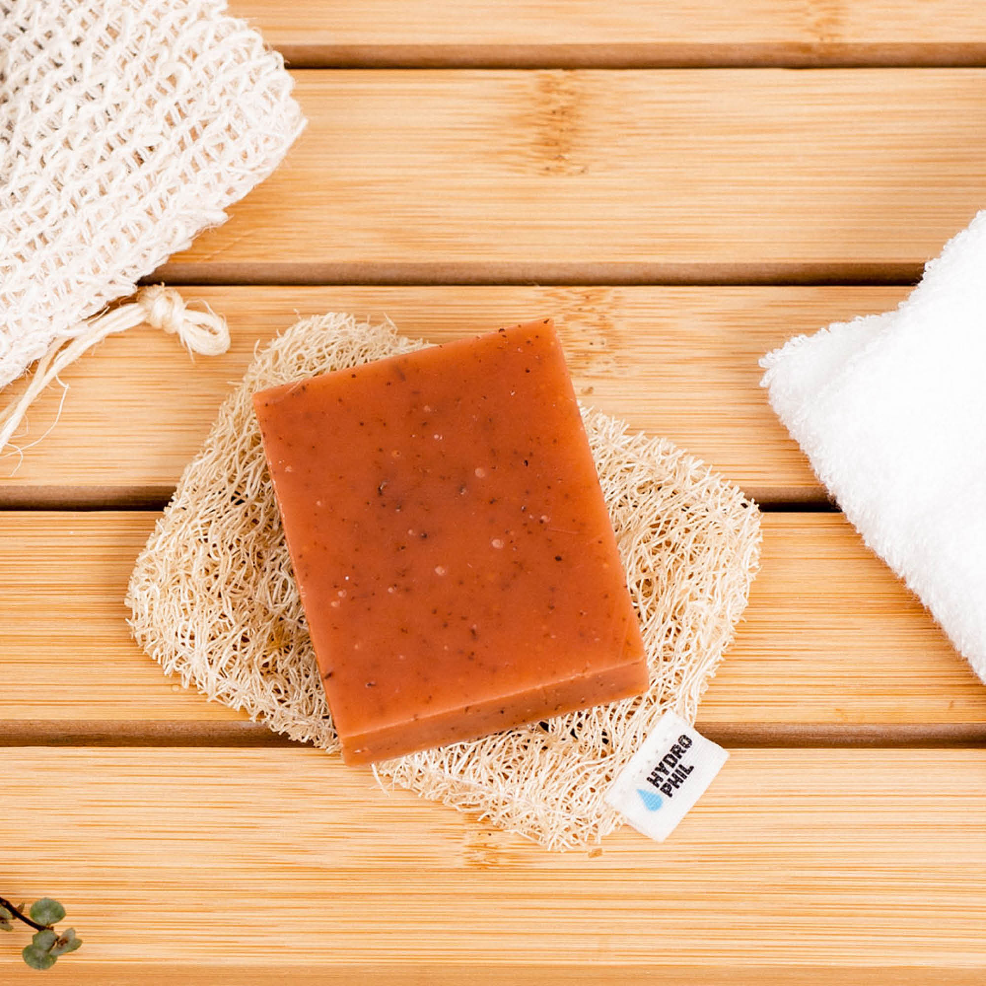 Our newest sustainable accessoire: loofah soap cushion – 100% plastic-free