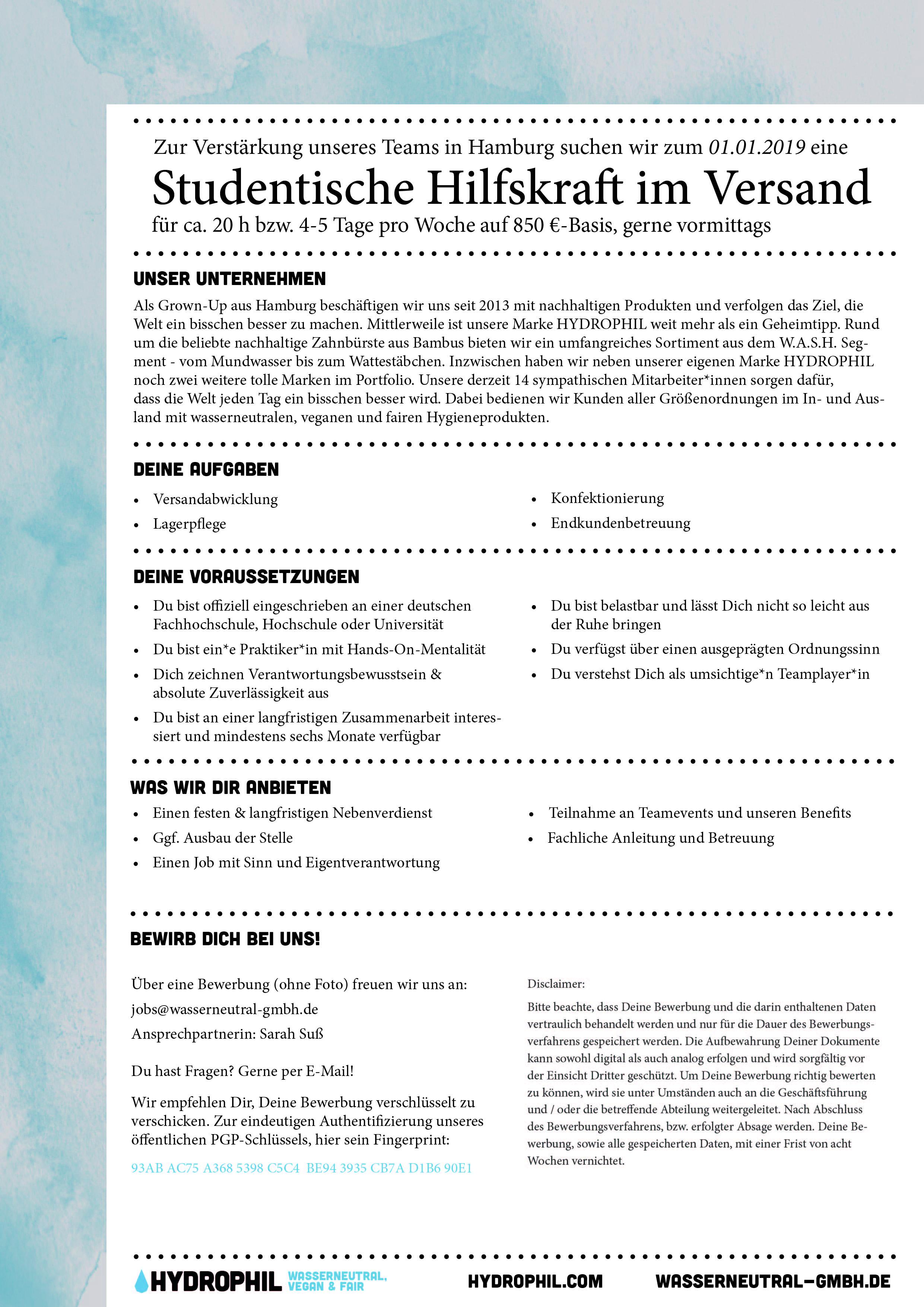 HYDROPHIL_Ausschreibung_Student_Lager