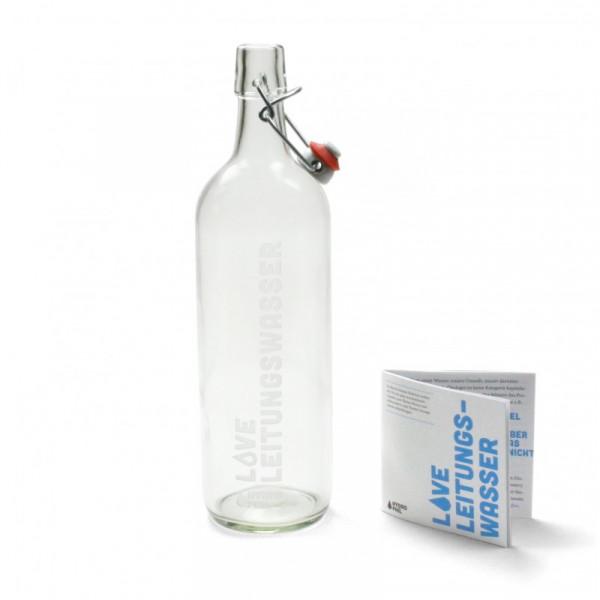 Bügelflasche LOVE Leitungswasser