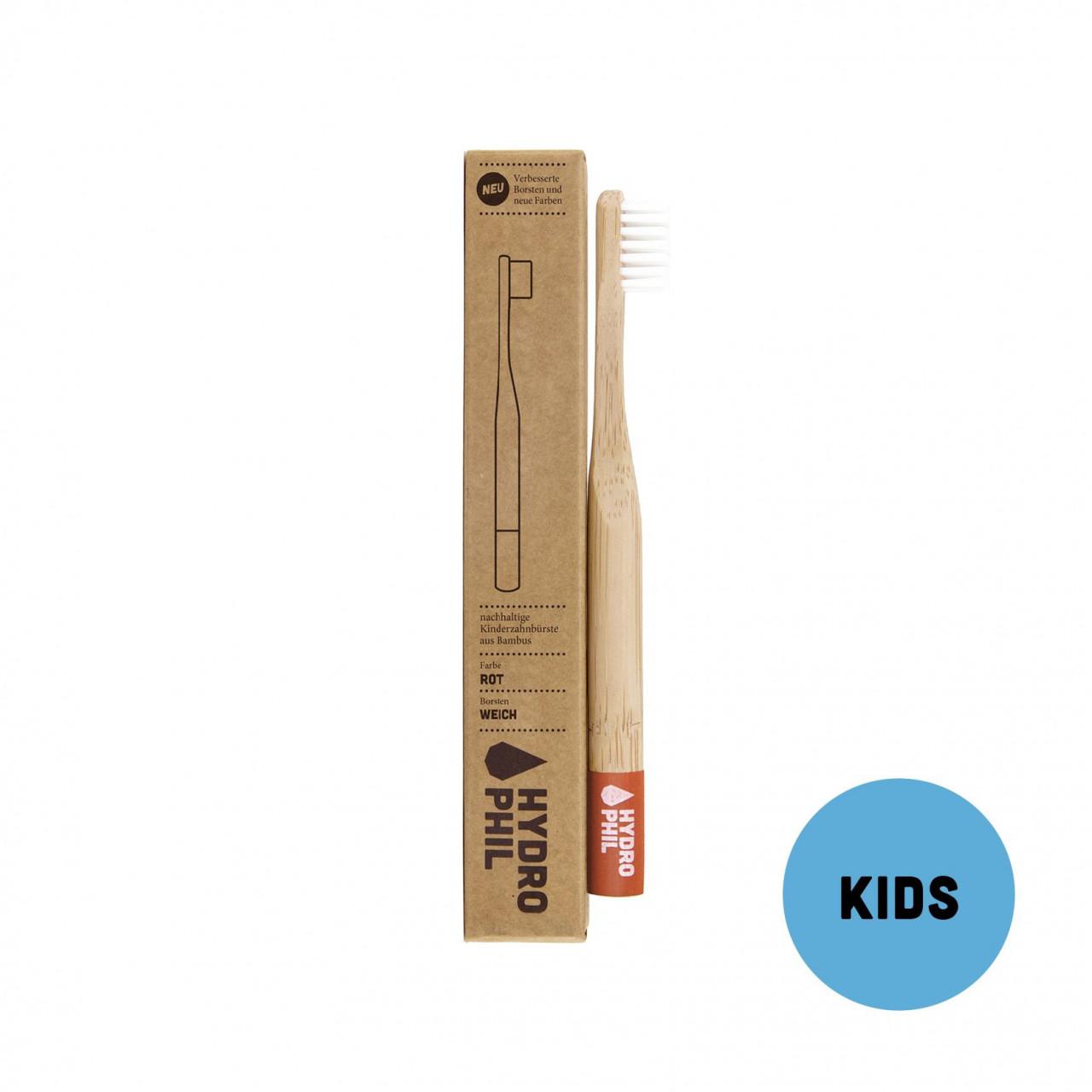 Nachhaltige Kinder–Zahnbürste – rot – extraweich