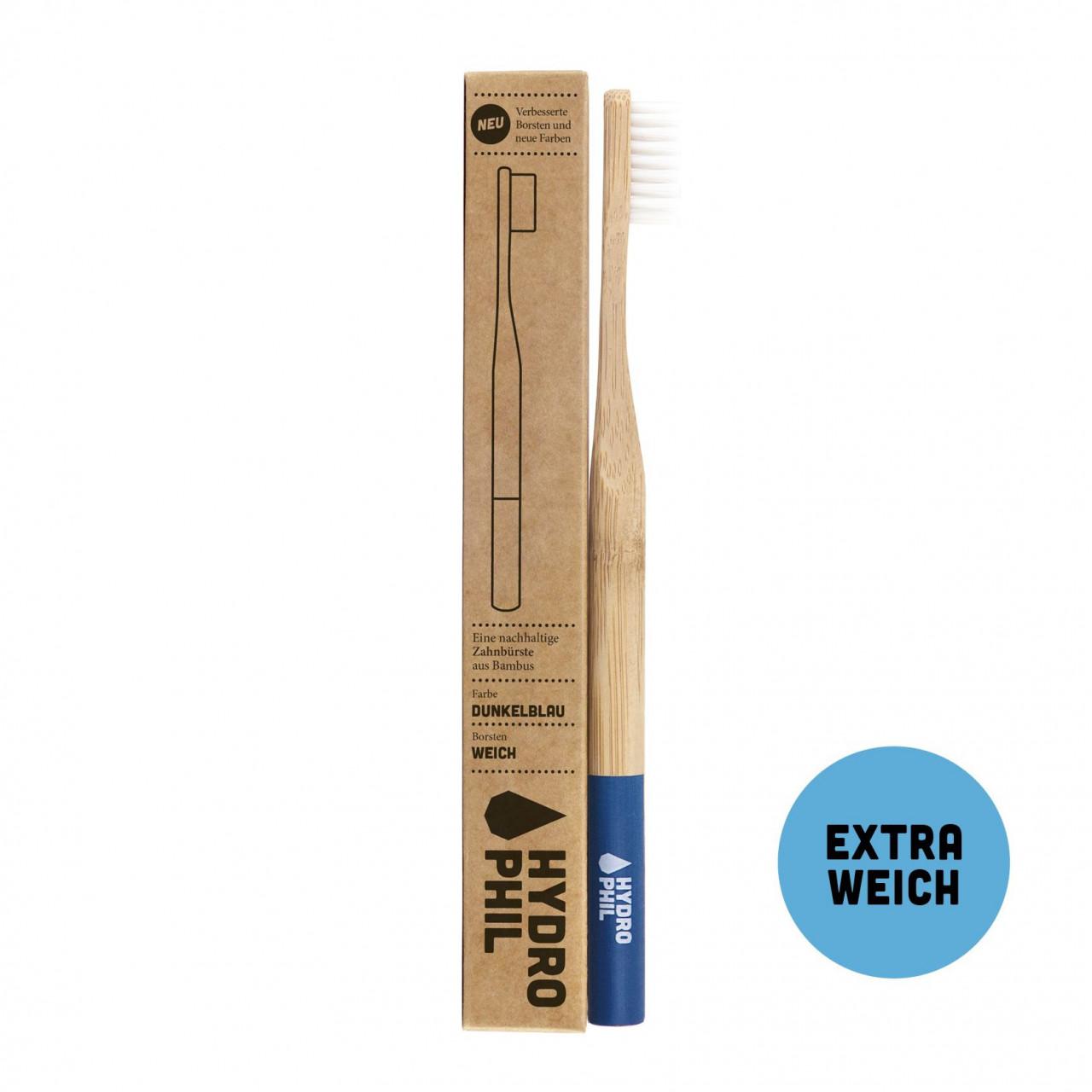 Nachhaltige Zahnbürste - dunkelblau - extraweich