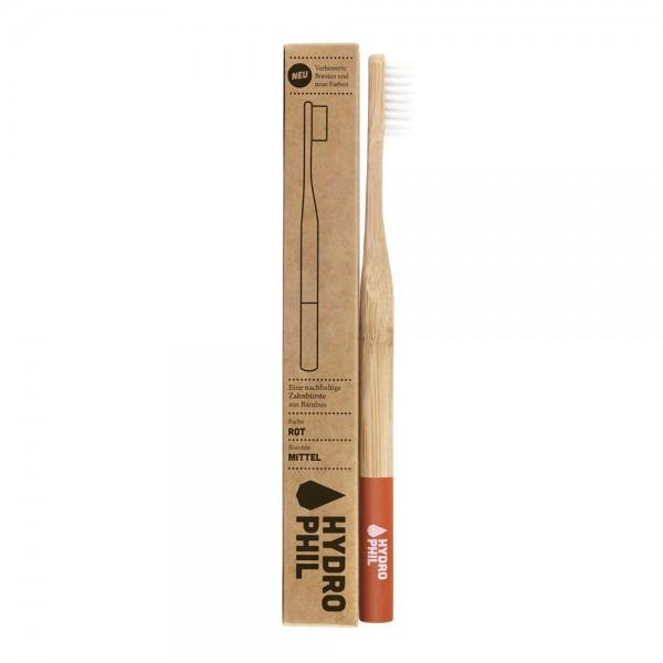 Nachhaltige Zahnbürste – rot – Mittelweich Einzeln 3,90 €