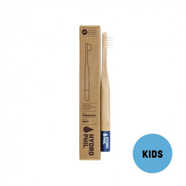 HYDROPHIL Kinder Bambus Zahnbuerste blau 1